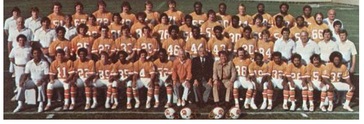 1976 Season 1 Tampa Buccaneers Team Picture