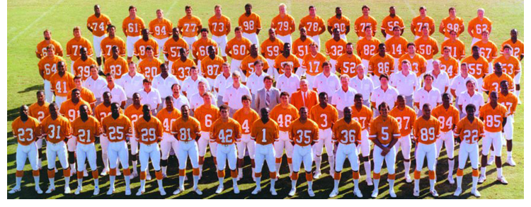 1987 Season 12 Tampa Buccaneers Team Picture