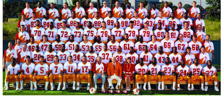 1993 Season 18 Tampa Buccaneers Team Picture