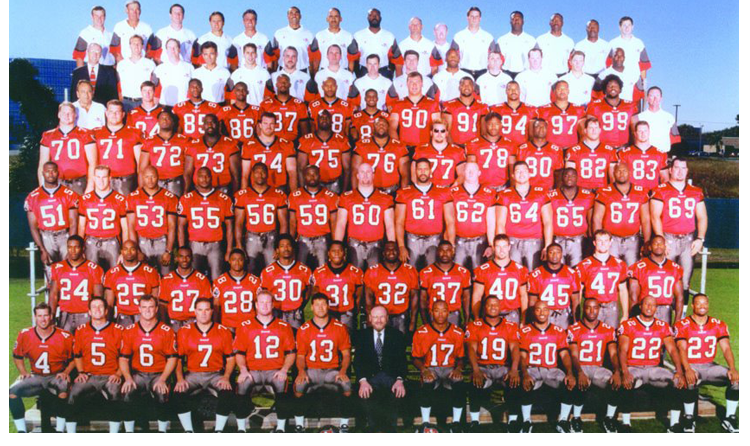 1997 Season 22 Tampa Buccaneers Team Picture