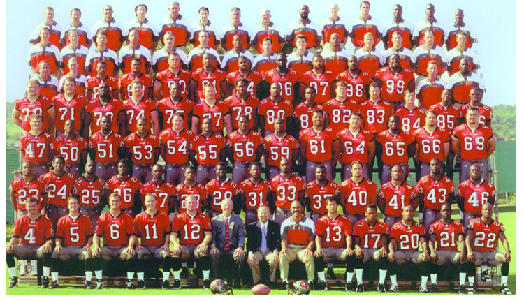 1998 Season 23 Tampa Buccaneers Team Picture