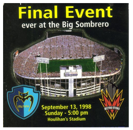 Final event in Tampa Stadium September 13, 1998
