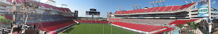 THe new Raymond James Stadium September 21, 1998