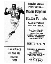 Tampa Exhibition Game Miami Dolphins vs. Boston Patriots