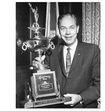 1966 Florida governor Hayden Burns holding 500 Governors Cup