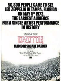 Led Zeppelin Concert 56,000 Attendees
