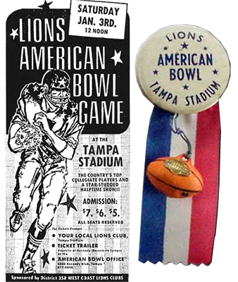 The Lions American Bowl In Tampa Stadium