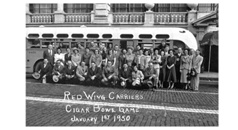 Red Wing Carriers at Cigar Bowl 1950