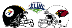 2009 Superbowl XLIII hosted in Raymond James Stadium Pittsburgh Steeleers vs Arizona Cardinals