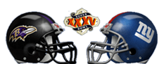2001 Superbowl XXXV hosted in Raymond James Stadium NY Giants vs Baltimore Ravens