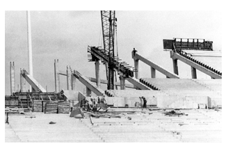 Construction of Tampa Stadium