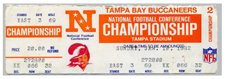 1976 Buccaneers Gamday Ticket Price