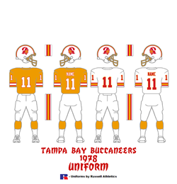 1978 Tampa Bay Buccaneers Uniform - Click To View Larger Image