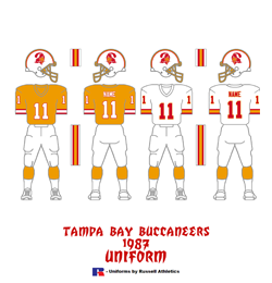 1987 Tampa Bay Buccaneers Uniform - Click To View Larger Image