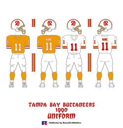 1990 Tampa Bay Buccaneers Uniform - Click To View Larger Image