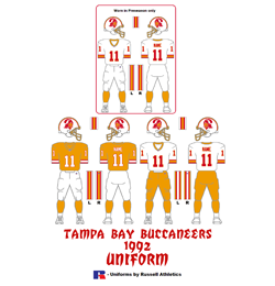 1992 Tampa Bay Buccaneers Uniform - Click To View Larger Image