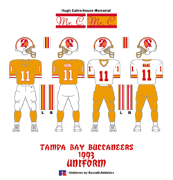 1993 Tampa Bay Buccaneers Uniform - Click To View Larger Image