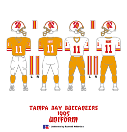 1995 Tampa Bay Buccaneers Uniform - Click To View Larger Image