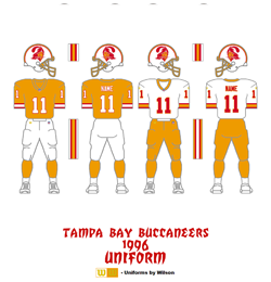 1996 Tampa Bay Buccaneers Uniform - Click To View Larger Image