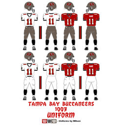1997 Tampa Bay Buccaneers Uniform - Click To View Larger Image