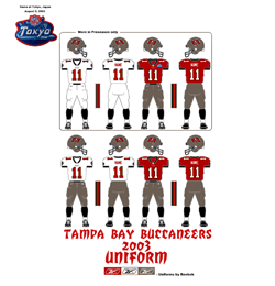 2003 Tampa Bay Buccaneers Uniform - Click To View Larger Image