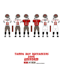 2006 Tampa Bay Buccaneers Uniform - Click To View Larger Image