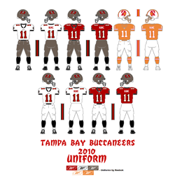 2010 Tampa Bay Buccaneers Uniform - Click To View Larger Image