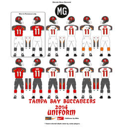 2014 Tampa Bay Buccaneers Uniform - Click To View Larger Image