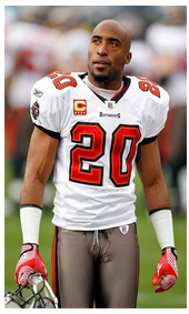 1997 Ronde Barber wearing the new Buccaneers Uniform and Jersey #20