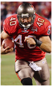 1998 Mike Alstott the A-Train #40 in Buccaneers Uniform and Jersey