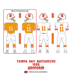 1976 Tampa Bay Buccaneers Uniform - Click To View Larger Image