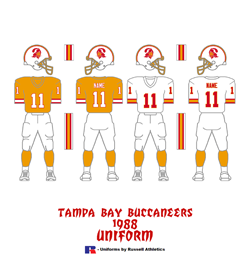1988 Tampa Bay Buccaneers Uniform - Click To View Larger Image