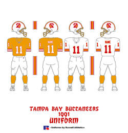 1991 Tampa Bay Buccaneers Uniform - Click To View Larger Image