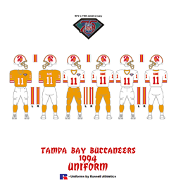 1994 Tampa Bay Buccaneers Uniform - Click To View Larger Image