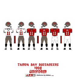 1998 Tampa Bay Buccaneers Uniform - Click To View Larger Image