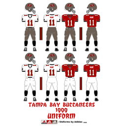 1999 Tampa Bay Buccaneers Uniform - Click To View Larger Image