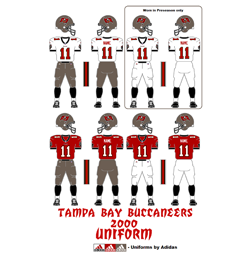 2000 Tampa Bay Buccaneers Uniform - Click To View Larger Image