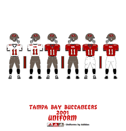 2001 Tampa Bay Buccaneers Uniform - Click To View Larger Image