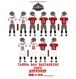 2002 Tampa Bay Buccaneers Uniform - Click To View Larger Image