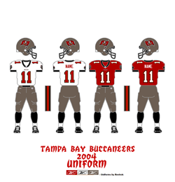 2004 Tampa Bay Buccaneers Uniform - Click To View Larger Image