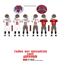 2005 Tampa Bay Buccaneers Uniform - Click To View Larger Image