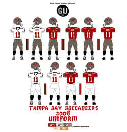 2008 Tampa Bay Buccaneers Uniform - Click To View Larger Image
