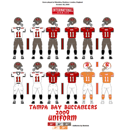 2009 Tampa Bay Buccaneers Uniform - Click To View Larger Image