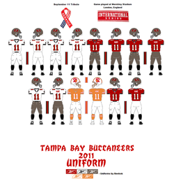 2011 Tampa Bay Buccaneers Uniform - Click To View Larger Image