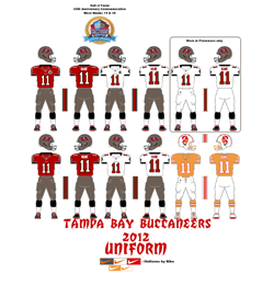 2012 Tampa Bay Buccaneers Uniform - Click To View Larger Image