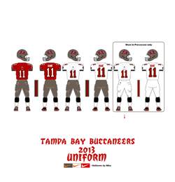 2013 Tampa Bay Buccaneers Uniform - Click To View Larger Image