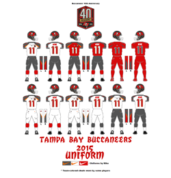 2015 Tampa Bay Buccaneers Uniform - Click To View Larger Image