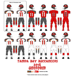 2016 Tampa Bay Buccaneers Uniform - Click To View Larger Image